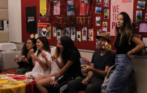 Students eat foods from different cultures on Oct. 10, 2019, in the West Campus Center Room 207, at City College in Santa Barbara, Calif.