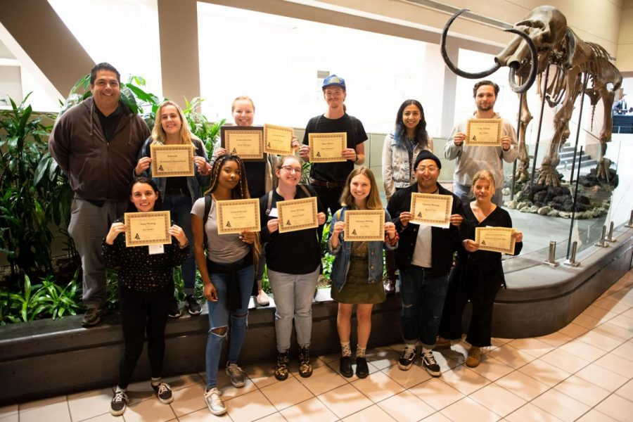 Photo contribution of Channels Staff with awards won at the 2019 JACC SoCal Conference on Saturday, Oct. 19, at State University, Fullerton in Orange County, Calif. The Channels staff won 12 awards at the conference.