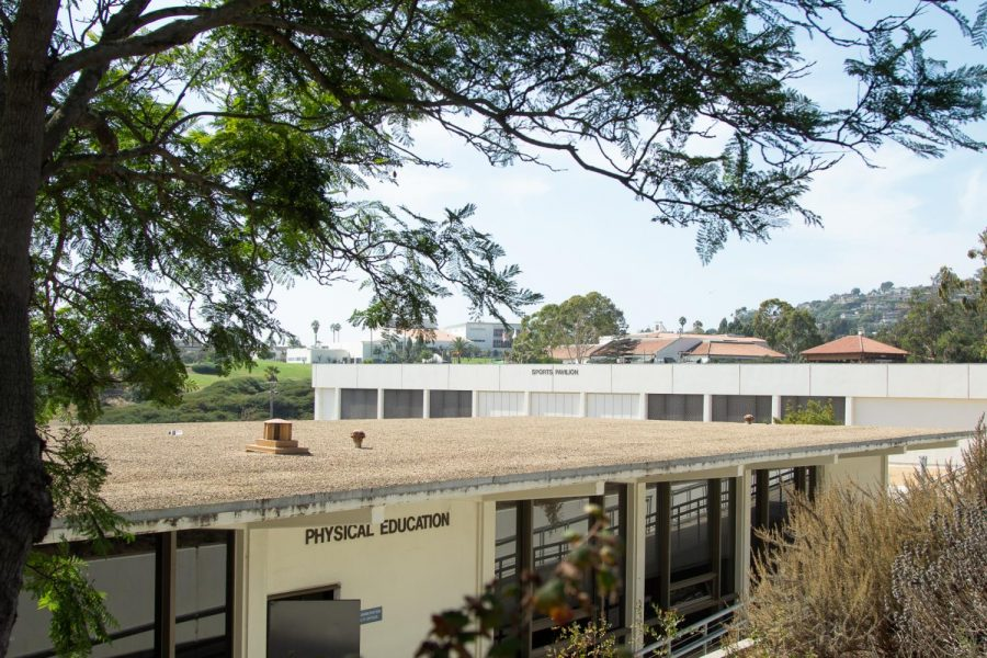 The Sports Pavilion and Physical Education Center at City College in Santa Barbara, Calif.. These buildings were built in 1952.