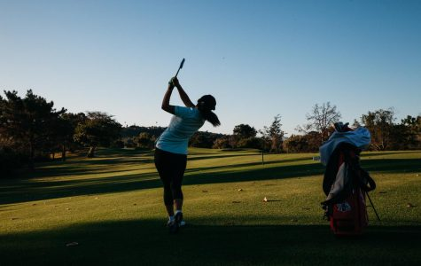Pratima Sherpa drives the ball down the fairway at the Santa Barbara Golf Club for her 18 hole practice game early Wednesday, Oct. 23 in Santa Barbara, Calif. Sherpa is working to become the first pro female golfer from Nepal.