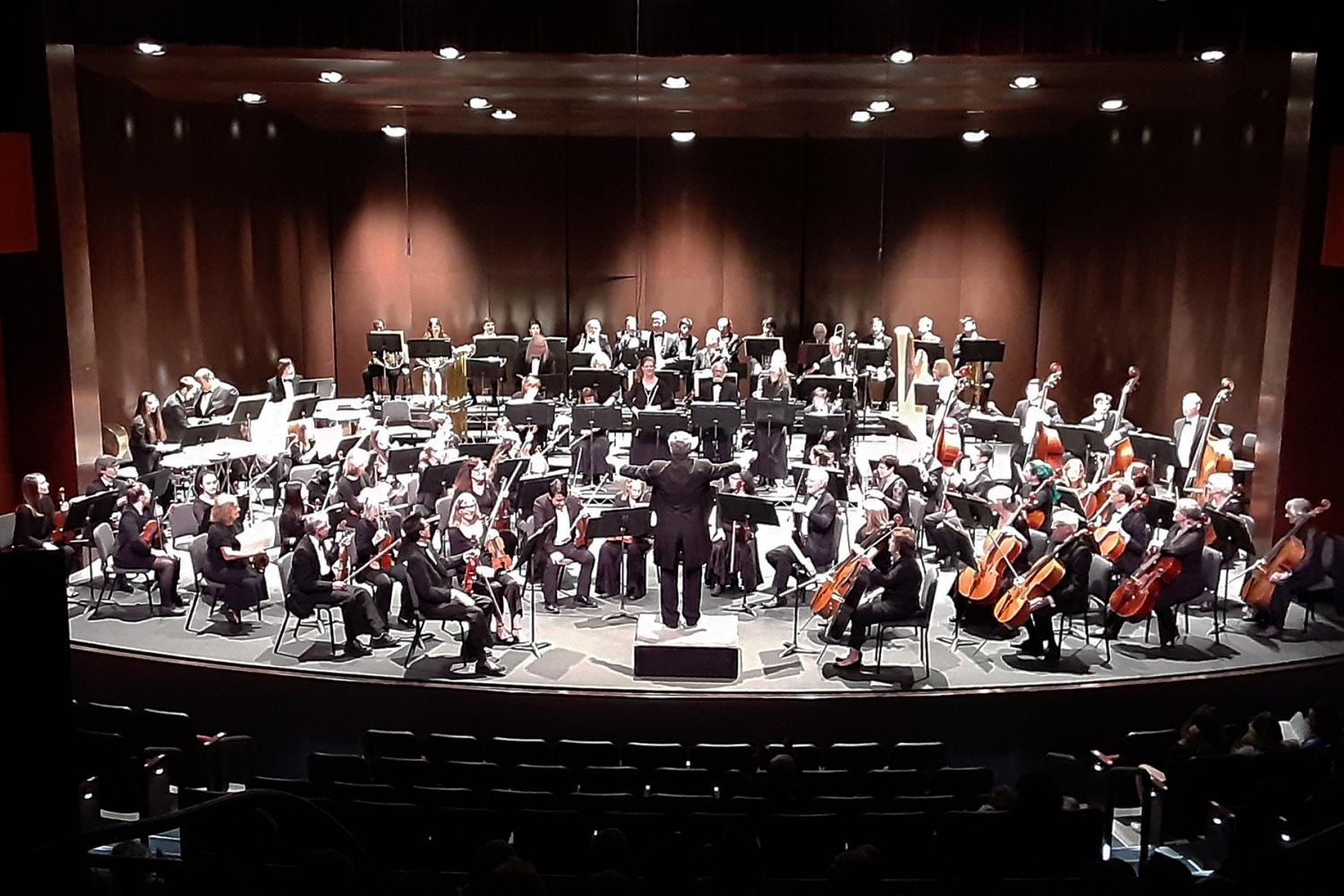 The SBCC Symphony Orchestra takes the stage on Sunday, Nov. 24, 2019 in the Garvin Theatre at City College in Santa Barbara, Calif.