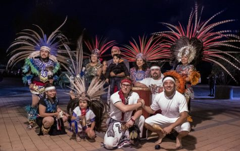 Diego Lazcano (Bottom right, left) and John Esteban (bottom right, right) meets with a Danza Azteca group at the St. Raphael Catholic Church in Goleta, Cailf., on Oct. 29, 2019, to perform a dance to express their culture and ancestry. Diego Lazcano (Bottom right, left) and John Esteban (bottom right, right) meets with a Danza Azteca group at the St. Raphael Catholic Church in Goleta, Cailf., on Oct. 29, 2019, to perform a dance to express their culture and ancestry.