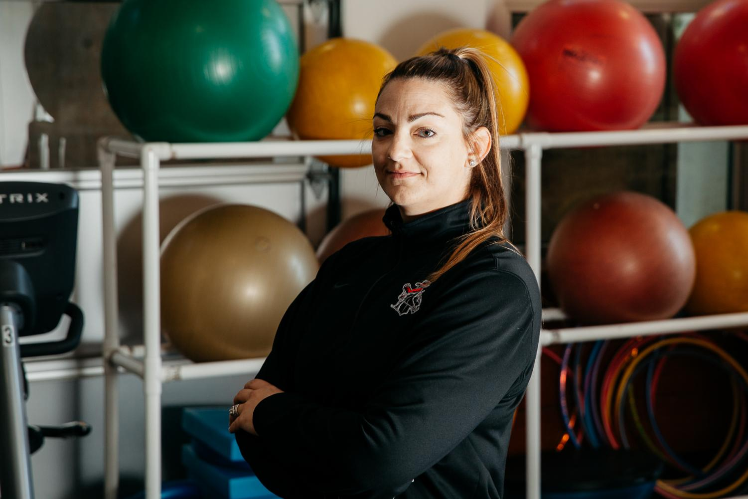 "Ashley Farias has worked for the Athletic Department at City College in several different capacities since 2003 and currently serves as an Administrative Assistant. ""Basically, I'm here to make everyone else's job run smoothly,"" Farias said Wednesday, Jan. 29, in the Life Fitness Center at City College in Santa Barbara, Calif."