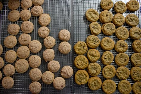 Santa Barbara Cookie Company's cookies cool after baking before being packaged on Sunday, Feb. 2, in Goleta, Calif.