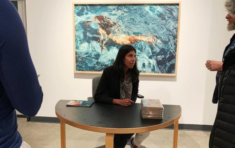 Artist Manjari Sharma signs her book
