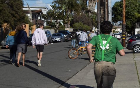 Isla Vista parties are still on during St. Patrick's day amid the coronavirus panic on Tuesday, March. 17, 2020, in Isla Vista, Calif.