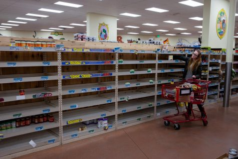 As shoppers stock up for social distancing, grocery stores like Trader Joe