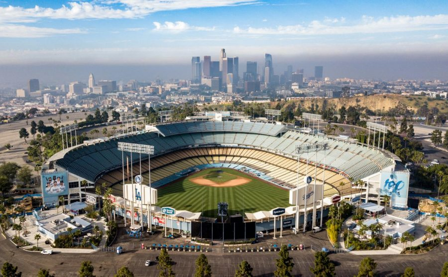Dodger Stadium in Los Angeles, Calif. Photo from Shutterstock.