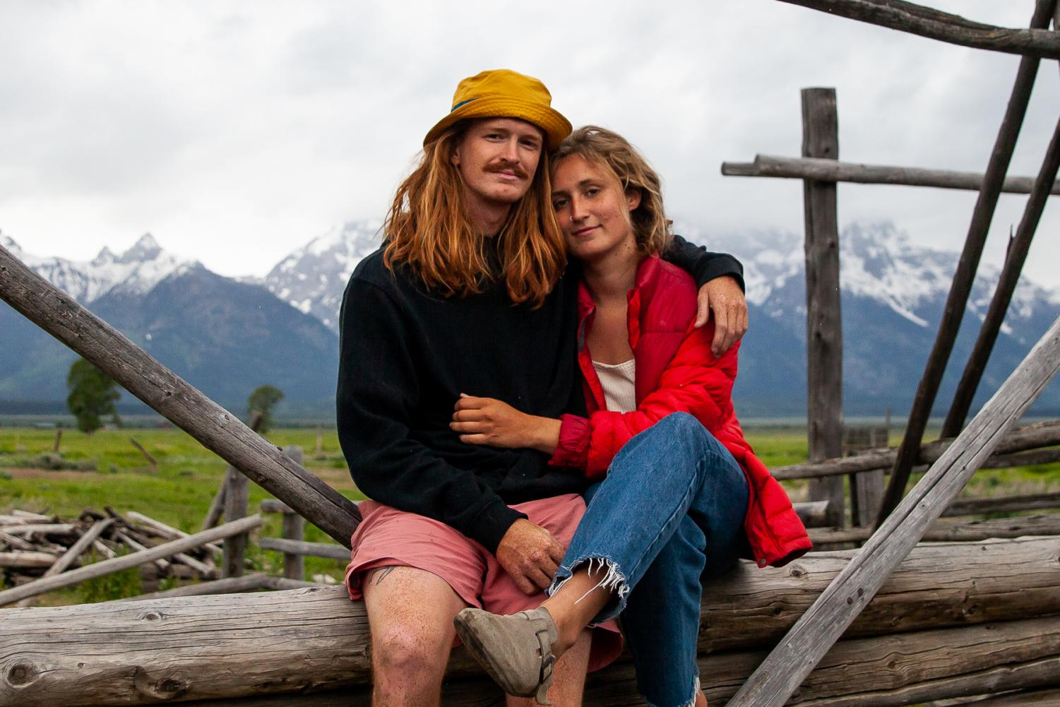 Photo Editor Nate Stephenson and partner Megan Stewart on June 23, 2019 near Grand Teton National Park.