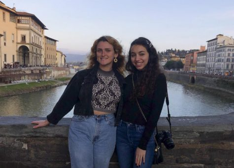 Courtesy image of Christiana Leonardo and Ariana Jordanou on Feb. 12, at Ponte Vecchio in Florence, Italy.