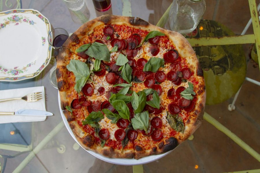 A freshly baked peperoni pie from Revolver Pizza on Sept. 17, 2020 at Revolver Pizza in Santa Barbara, Calif. Owner Nick Bodden keeps his menu limited in order to focus on quality over quantity.