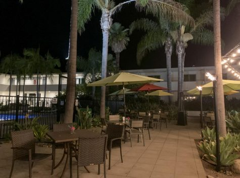 The recent patio extension done at the Crocodile Restaurant and Bar due to the need for extra outdoor seating on Sept. 16, 2020 at Crocodile Restaurant & Bar in Santa Barbara, Calif.