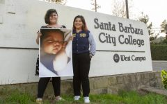 Ana Zepeda, right, her daughter Lia Velazquez and her infant son Luke togher as a family on Oct. 14 on West Campus at City College in Santa Barbara, Calif. Zepeda is thankful for the experiences and opportunities that the City College has provided her over the years. She is also looking forward to graduating and making a bigger impact in the community than she already has done.