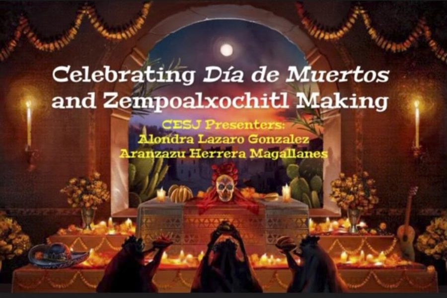 The Center for Equity and Social Justice held a virtual tutorial on making paper marigold flowers, and gave an overview of the history and celebrations of Dia de los Muertos. The event was hosted by CESJ Student Program Advisor Alondra Lazaro Gonzalez, with the tutorial given by CESJ peer advisor Aranzazu Herrera Magallanes, at 3 p.m. Friday Oct. 30, via Zoom.