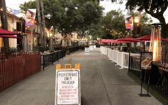 Outdoor seating for downtown restaurants on State Street on Nov. 18, 2020 in Santa Barbara, Calif. The state was placed back into the 'purple tier' restricting dining to outdoor due to the spike in coronavirus cases across the country.