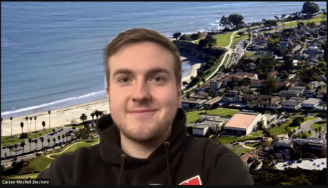 "Screengrab of Associated Student Government President Carson Mitchell over Zoom on Feb. 11, 2021. ""I don't want the ASG to be such a scary thing,"" Mitchell said."