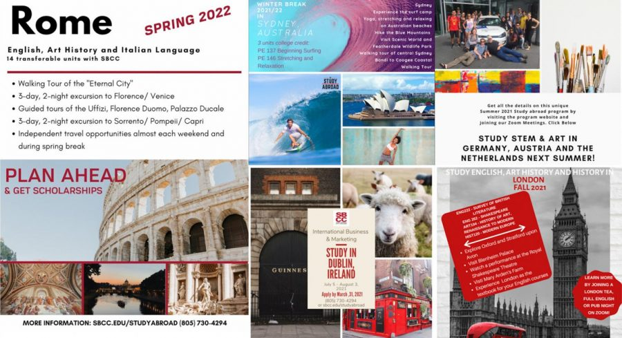 City College's study abroad department had to cancel all programs for the 2020-2021 school year but will continue on with new programs in the fall. Courtesy Images of the Rome, Ireland, Australia, Germany, and London City College Study abrod programs in 2021 and 2022.