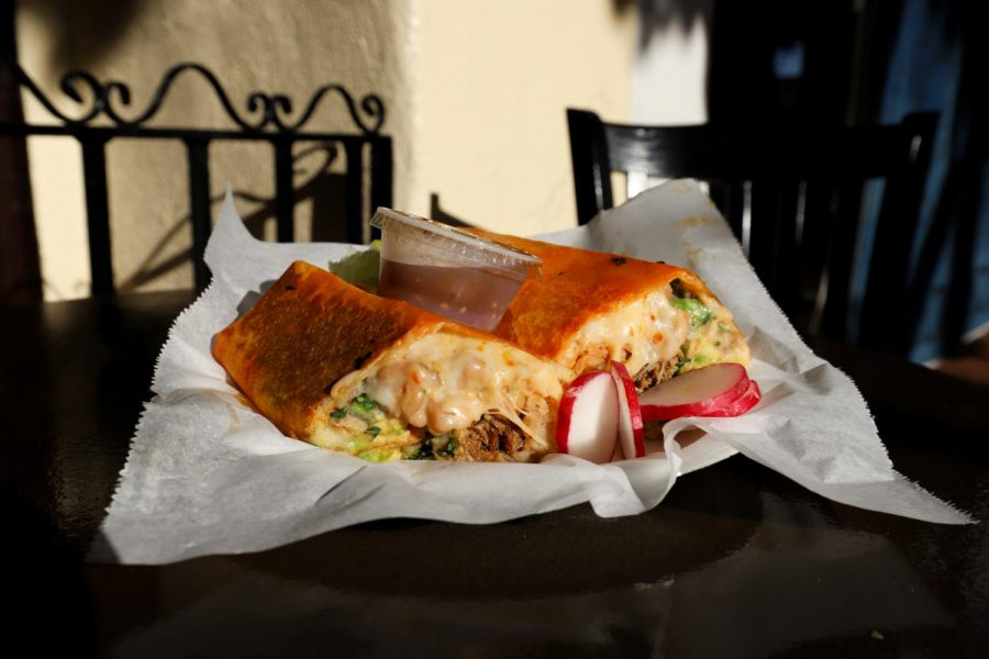 Yona Redz newest addition to its menu, the Birria Burrito, on Feb. 17 at Yona Redz location of 532 State St. in downtown Santa Barbara, Calif. Yona Redz officially opened its first location on Nov. 15, 2020.
