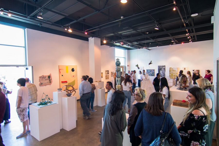 "The Atkinson Gallery has recently been awarded $100,000 from the Getty Foundation for their newest exhibition of ""Pacific Standard Time,"" a show brought to life by multiple institutions across Southern California. File photo of the 2018 Annual Student Exhibition on Friday, April 13 at the Atkinson Gallery at City College in Santa Barbara, Calif."