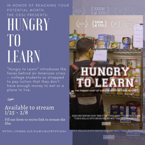 "Courtesy image of the ""Hungry to Learn"" poster from CESJ."