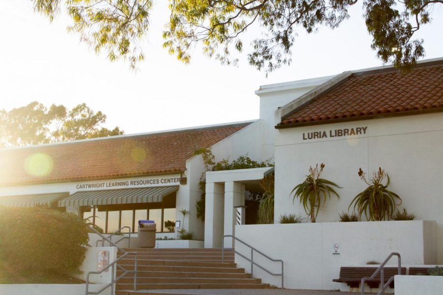 "The Eli Luria Library on City College's West campus has been closed since last March, but library staff has been working to offer the same resources available to students through rentals, online distribution and more. ""We have had a lot more students accessing our collection electronically instead of physically,"" said Camerin Poulson, library technician. File photo of Eli Luria Library from Feb 19, 2021, in Santa Barbara, Calif."