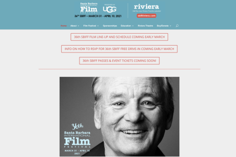 Screengrab from the official website for the Santa Barbara International Film Festival. This year