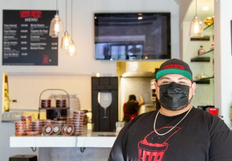"Jonathan ""Yona"" Estrada at his taco shop Yona Redz on Feb. 19 in Santa Barbara, Calif. Yona Redz started as a backyard pop-up, and opened its first brick-and-mortar location last November at 532 State St."