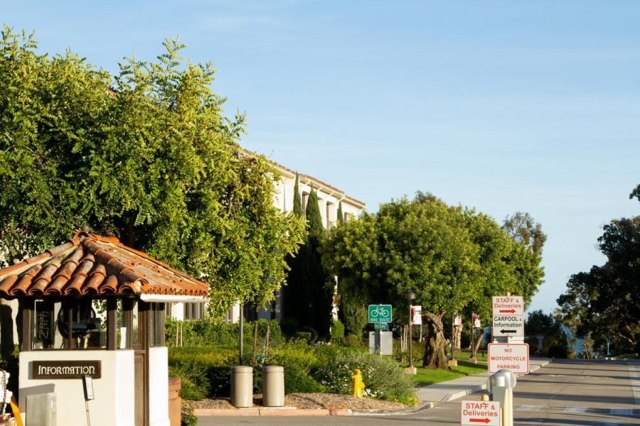 File photo of the entrance to City College's main campus taken on Feb. 17, 2021, in Santa Barbara, Calif.
