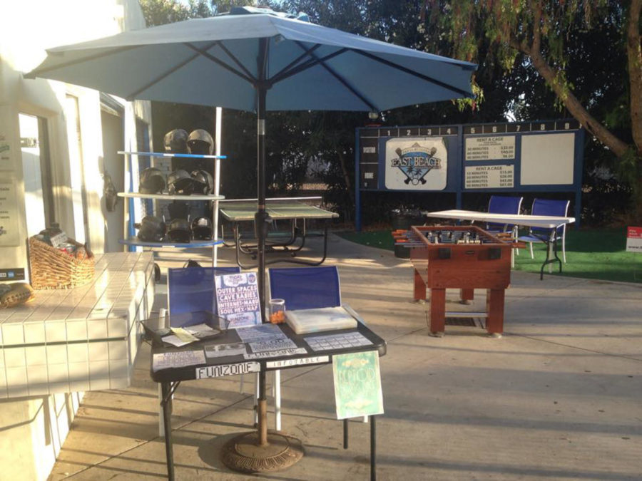 Funzone at East Beach Batting Cages set up for a show on October 23, 2014, in Santa Barbara, Calif. Image courtesy of Spencer vonHershman.