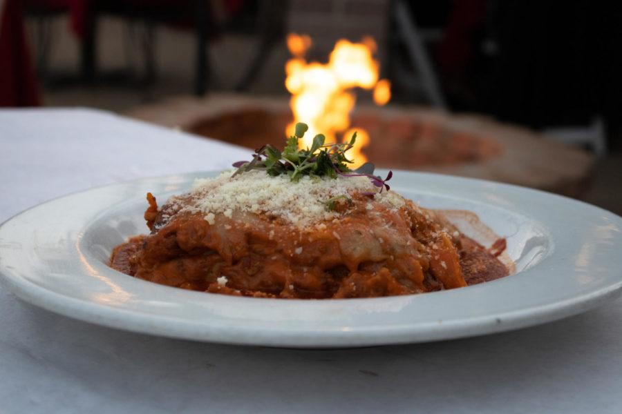 The Lasagne Alla Bolognese at Arnoldi's Cafe.