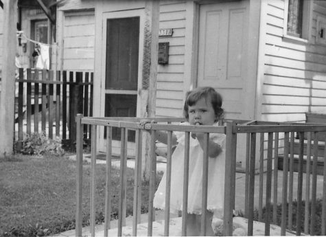 Courtesy image of Heidi Hutton Rigoli at age 3 in her crib from 1958 in Milwaukee, Wis.