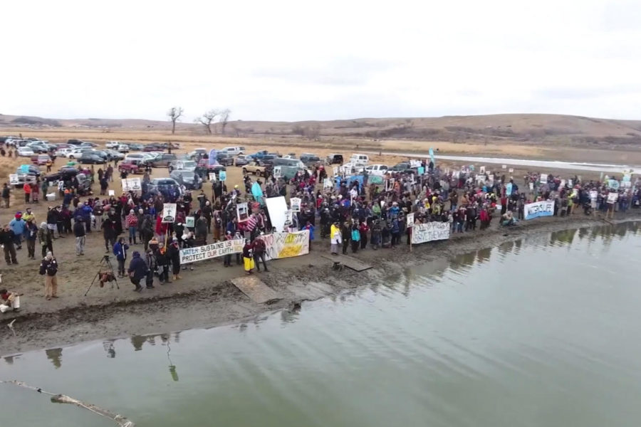 """The film """"Revolution Generation"""" explores the activism of millennials during social justice conflicts in recent history. The documentary shows examples from Black Lives Matters protests and the Dakota Access Pipeline protests (shown in screen grab.)"""