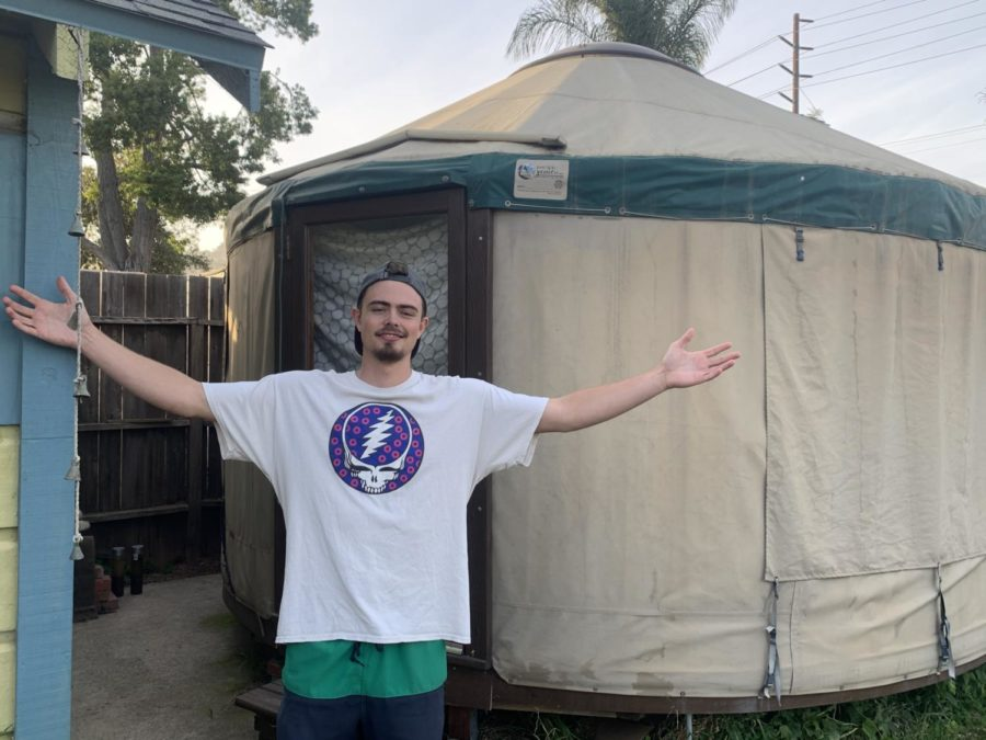 Courtesy image Cole Federbusch outside of his Yurt on Friday April 30, 2021.