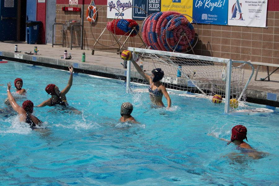 The City College water polo team scrimmage against each other on Sept. 23 at San Marcos High School in Santa Barbara, Calif. The focus of the day was loud and clear communication during play.