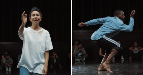 """Galen Hooks (left) and Antavius Ellison (right) performing to """"I Love You"""" by Billie Eilish, choreographed by Galen Hooks. Source Galen Hooks."""