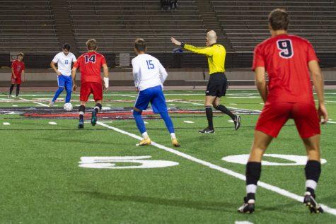 The City College Vaqueros and the Santa Monica College start their game on Oct. 26 at City College's La Playa Stadium in Santa Barbara, Calif. City College beat Santa Monica 4-1.